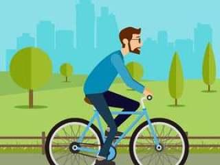 骑自行车矢量
