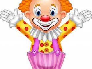 卡通快乐的小丑