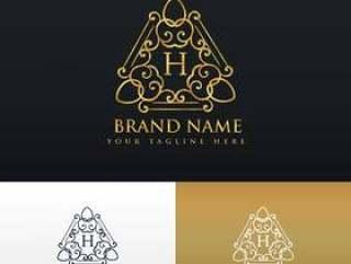品牌标志设计豪华复古风格