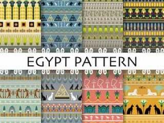 美好的埃及样式集合汇集背景