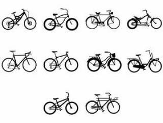 自行车图标矢量