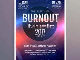 音乐传单小册子海报模板为您的音乐事件聚会