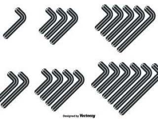 向量组的平内伦键图标以不同的大小