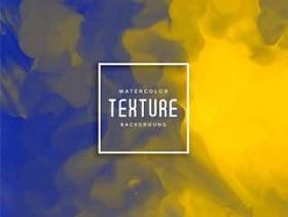 蓝色和黄色抽象水彩背景