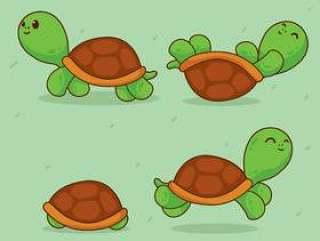 卡通乌龟矢量