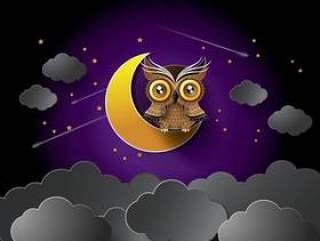 猫头鹰和月亮传染媒介。