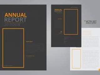 年度报告典雅的几何平面设计模板