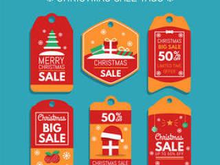 圣诞销售吊牌矢量