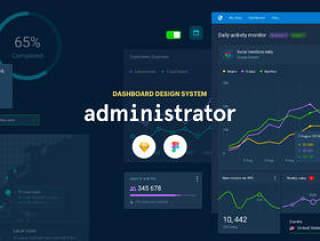 最终的仪表板UI工具包,可帮助您设计复杂的Web应用程序,管理员仪表板:草图和图形