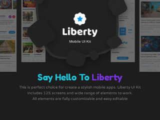 在Sketch&Photoshop,Liberty Mobile UI工具包中创建时尚的移动应用程序的完美选择