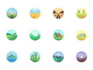 28 枚景观扁平图标