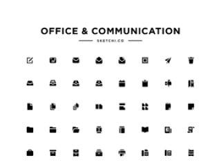 电子邮件,商业,财务,分析等等!Office&Communication Solid