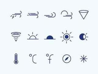42 枚天气图标