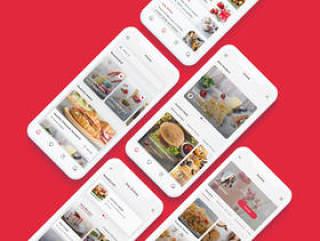 专为Sketch和Adobe XD设计的高品质食谱和食物计划应用UI工具包。,Roka - 食谱和食物计划应用UI工具包