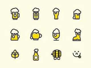 12 枚啤酒图标