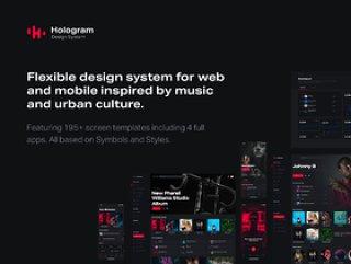灵活的设计系统,灵感来自音乐和城市文化。,全息设计系统