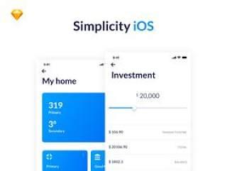 52个iOS UI屏幕专为Sketch。,Simplicity iOS设计