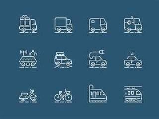 45 枚运输工具图标