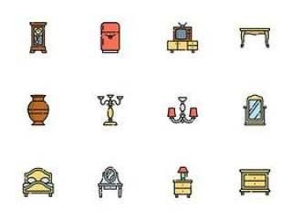 50 枚复古家具图标