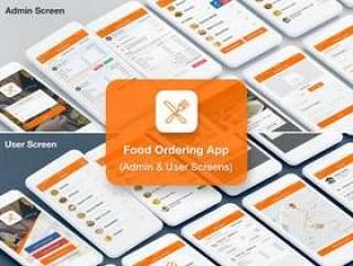 食品,餐厅,交货和供应商订购管理员和用户的UI工具包,食品订购管理员和用户