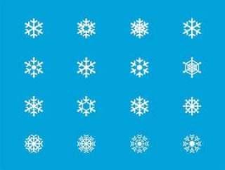 25 枚雪花图标