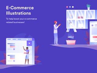 电子商务插图包用于移动和桌面,电子商务插图