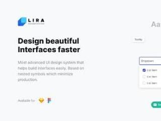 用于Sketch和Figma的清洁现代UI设计系统,Lira Design System