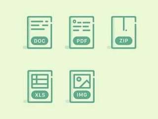 清新文件类型图标