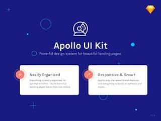 基于Web的UI工具包,使用Sketch。,Apollo UI Kit设计