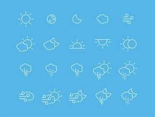 65 枚天气图标