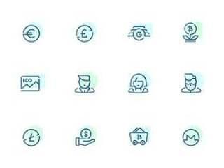 48 枚金融科技元素图标