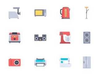 40 枚家用电器扁平图标