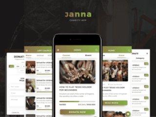 30多个iOS优化屏幕专为Photoshop,Sketch&XD,Janna慈善移动UI套件而设计