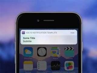 iOS 10 通知模版