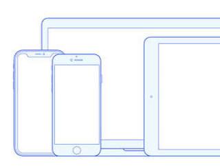 苹果设备线框模板