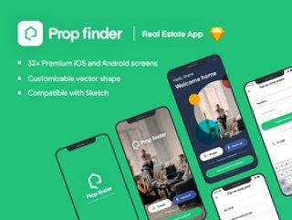 具有32个屏幕的Prop Finder高级iOS应用UI工具包,Prop Finder iOS高级应用