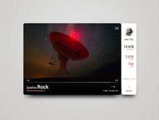 Satellite Rock Video Widget