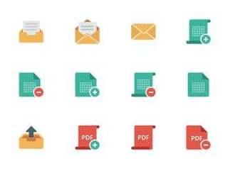 40 枚文档类型图标