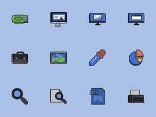 50 枚设计工具元素图标