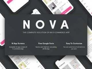 电子商务XD兼容App iOS UI Kit Nova电子商务UI套件(含XD源文件)