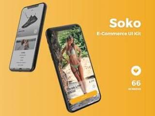 专为Sketch。,Soko电子商务UI工具包设计的高品质电子商务移动应用UI套件