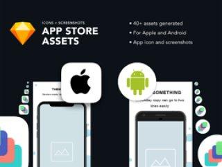 适用于Apple和Android的App Store图标和屏幕截图模板。,App Store Asset Generator