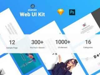 Ataman Web UI工具包Web UI Kit的多用途模板(含psd和sketch源文件)