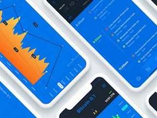 用于加密,股票,货币等的iOS交易应用程序!,股票市场应用UI工具包