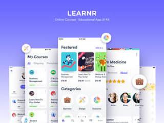 教育应用程序设计的在线课程在光明和黑暗的主题,学习者用户界面工具包