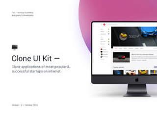 在互联网上克隆最受欢迎和成功创业公司的应用程序。克隆UI工具包