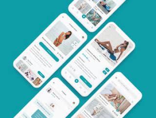 专为Sketch和Adobe XD。,Alive App Ui Kit设计的高品质B2C和C2C电子商务应用UI套件
