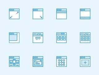 100 枚用户流程元素图标