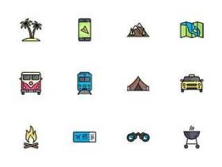 50 枚假日旅游元素图标