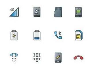 70 枚移动电话元素图标